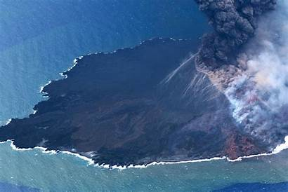 Nishinoshima Japan Pacific Ocean Island Volcanic Spurt