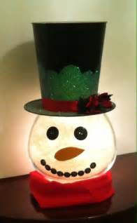 Decorating Santa Hat Ideas by Diy Amazing Fish Bowl Snowman