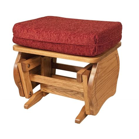glider ottoman amish crafted furniture
