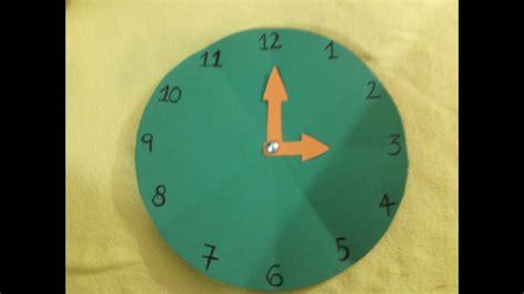 reloj elaborado en cartulina youtube