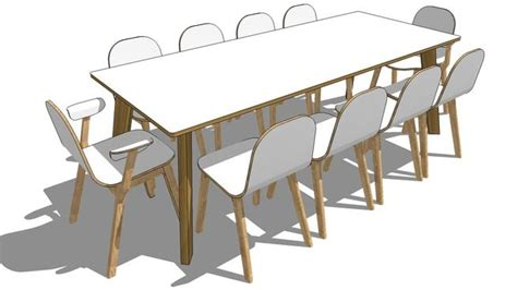 hutten sp m table and bilbao chair and armchair sketchup