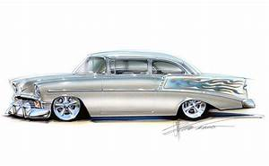 chip foose customs | Chip Foose Custom Car Drawings | 1956 ...