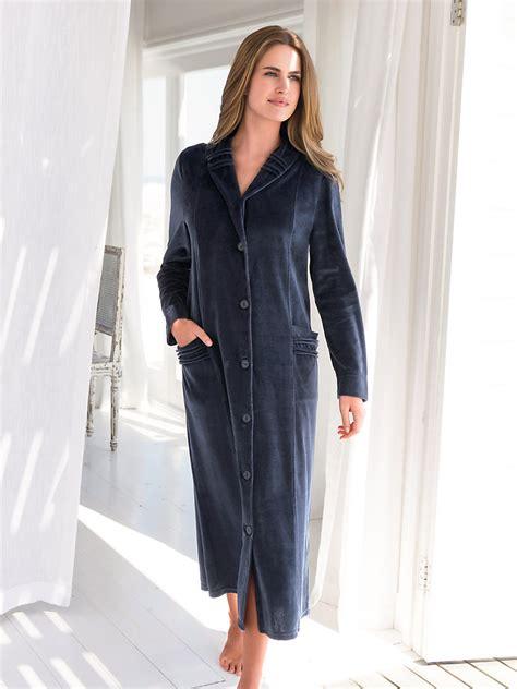 robe de chambre en velours femme robe de chambre polaire femme francoise saget peignoir et