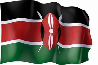 Kenya Flag Waving Graphic Ingofonts