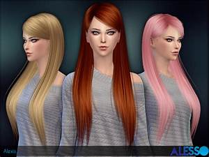 Sims 4 Hairs The Sims Resource Alexis Hairstyle By Alesso