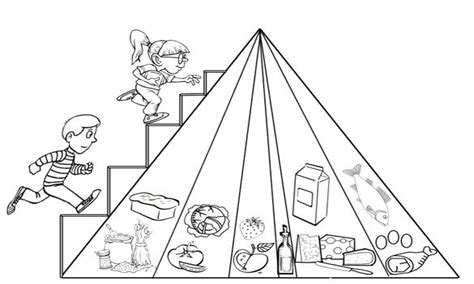 Pyramid Coloring Book Food Pages For Preschool Best Page