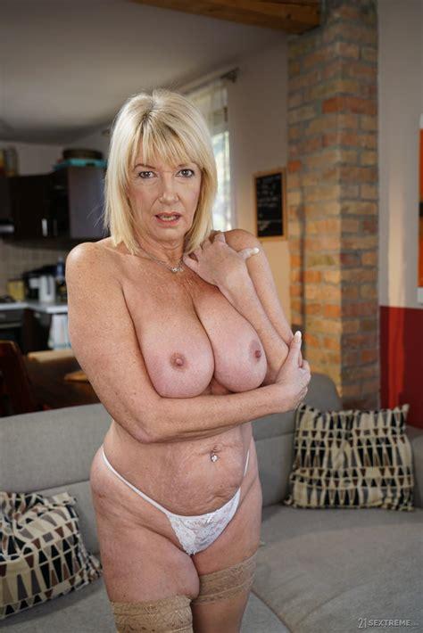 Lusty Blonde Gilf Seduced Dark Haired Hottie Photos Nikki