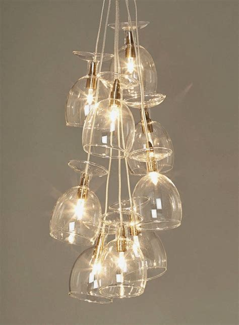 wine glass light fitting decor   ceiling lights