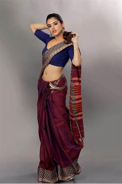 Sharma Malvika Saree Malavika Actress Stills Brown