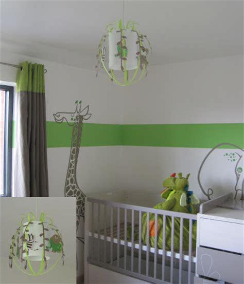 chambre sauton animaux de la savane luminaire chambre enfant le