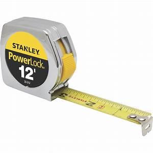 Stanley Powerlock Measuring Tape  U2014 3  4in  X 12ft  Length