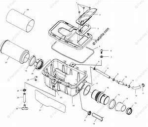 Polaris Atv 2000 Oem Parts Diagram For Air Box A00cd50aa