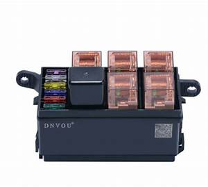 High Quality 1pc 6 Way Auto Fuse Box Assembly With 40a 5pin 40a Relay And Fuses