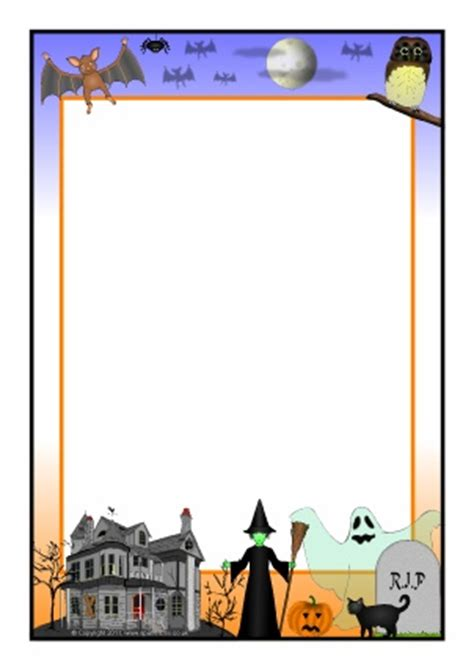 halloween page borders microsoft word festival collections