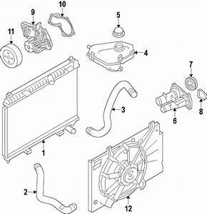 Ford Fusion Engine Coolant Outlet Flange  1 6 Liter  1 6