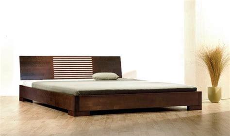lit en bois massif design zenno bas wenge