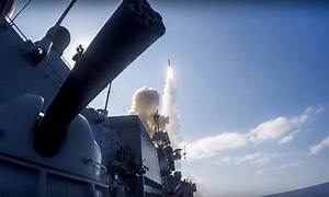 Russia warships and sub fire cruise missiles at Syria ...