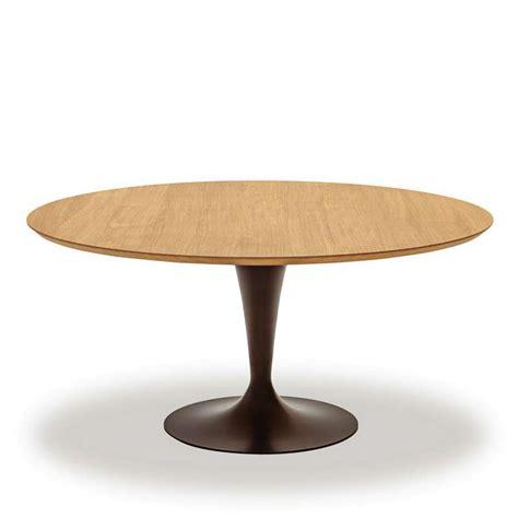 Table Ronde Design Plateau Bois  Flûte Sovet®  4 Pieds