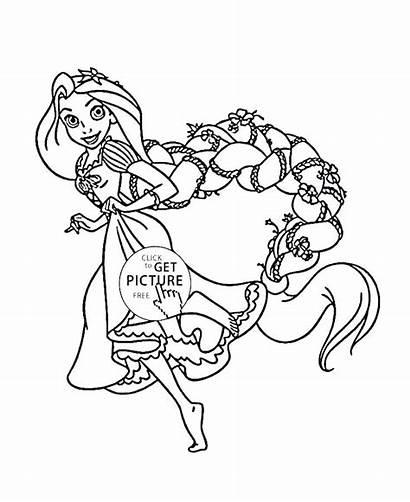 Coloring Rapunzel Pages Princess Disney Printables Funny