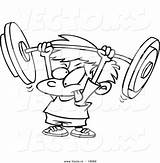 Barbell Coloring Pages Boy Crossfit Weight Lifting Cartoon Colouring Weightlifting Fitness Clipart Drawing Strength Strong Crazy Weak Outlined Workout Boys sketch template