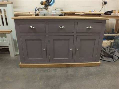 pine kitchen cabinet shabby painted large 3 door narrow sideboard f b brassica 1490