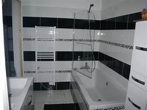 roland coster salle de bainsfaience noire et blanche 30x40 With salle de bain faience noire
