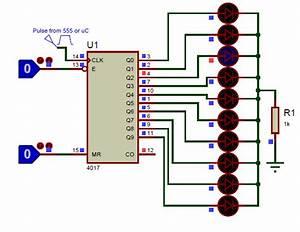 Cd4017 Circuit Diagram In 2019