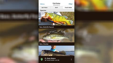 fwc regulations florida fishing freshwater fish app rules fla fresh water southwest adds conservation commission wildlife added