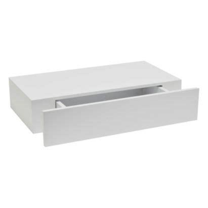 Bathroom Shelves B Q by B Q Chunky Floating Shelf With Drawer White 100h