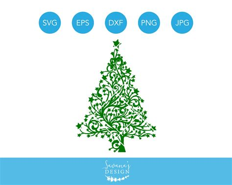 I thought this would look great with gold foil on a black tote. Christmas Tree SVG Cricut Silhouette ~ Illustrations ...