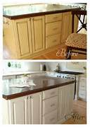 Here S A Quick Reminder Of The Island Before And After Kitchens With Grey Painted Cabinets Painting Kitchen Cabinets Before Before And After Kitchen Cabinets Home Design Ideas Modern Kitchen Decorating Themes Painting Old Kitchen Cabinets Before