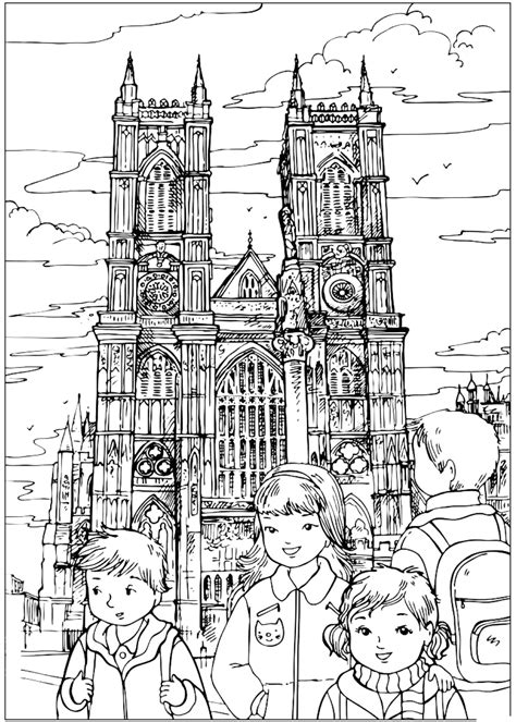 coloring page westminster abbey
