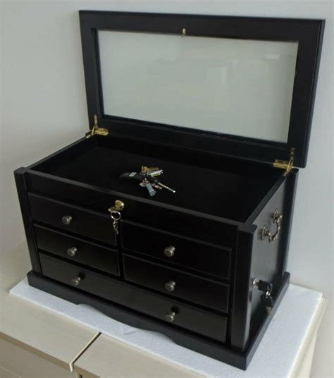 Knife Display Cabinet by Knife Display Storage Cabinet With Shadow Box Top