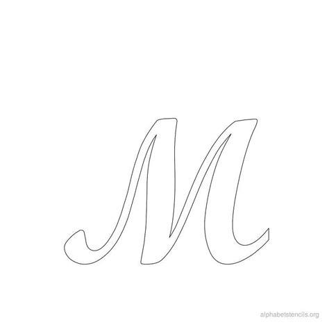 large cursive letter stencils