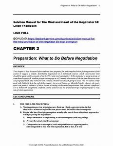 The Mind And Heart Of The Negotiator 5e Solution Manual
