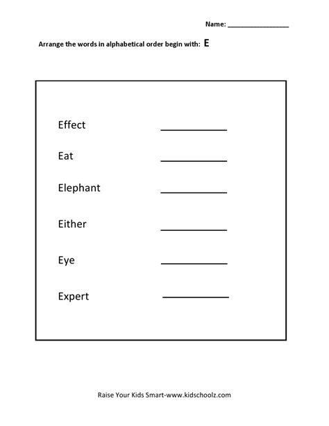 10 best images of alphabetical order worksheets grade 3