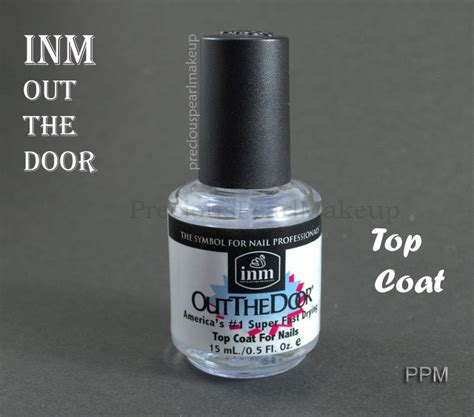 inm out the door preciouspearlmakeup inm out the door fast drying top coat
