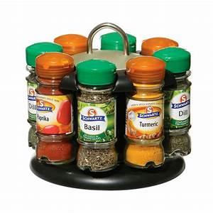 Tourniquet A Epice : rotating spice rack 8 schwartz spice bottles included black and chrome effect ebay ~ Teatrodelosmanantiales.com Idées de Décoration