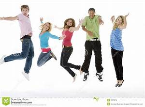 Teenagers Jumping In The Air Stock Images - Image: 7231974