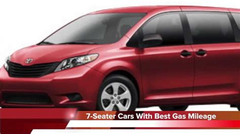 Crossover Cars With Best Gas Mileage by 2013 7 Seater Cars With The Best Gas Mileage