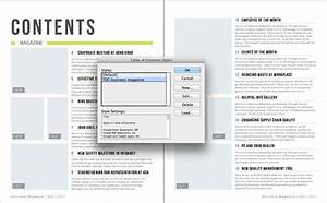 generate an indesign table of contents from a template With table of contents template indesign
