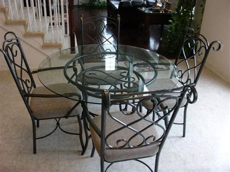 Kitchen Table Sets Wrought Iron by Kitchen Dining Sets Glass Glass Dinette Set Comes