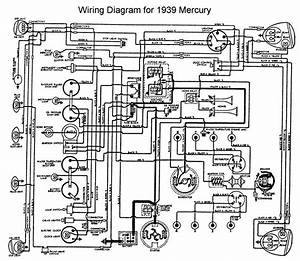 1939 Ford Mercury Wiring Diagram Flathead Engine  59108