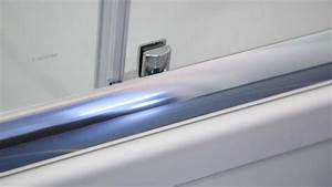 Cabine de douche porte coulissante 2 vantaux 160cm 170cm for Barre de seuil porte de douche
