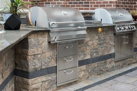 unilock outdoor kitchens 4 stunning unilock outdoor kitchens in nassau county ny