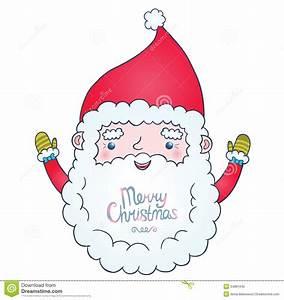 Cute cartoon Santa Claus stock illustration. Image of ...