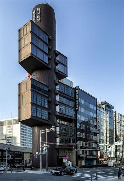 shizuoka press  broadcasting center data  plans wikiarquitectura