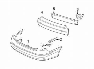 Ford Taurus Bumper Cover Support Rail  Upper   Sedan