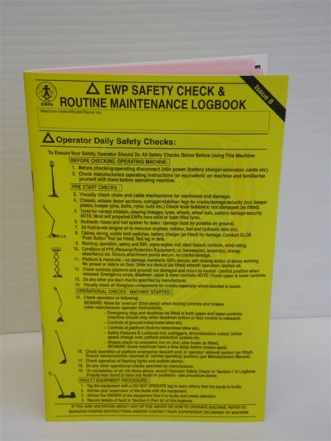 newused parts ewpa stationery logbook yellow pouches