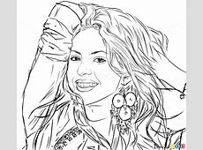 How to Draw Shakira, Celebrities How to Draw, Drawing
